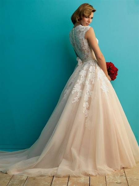 full lace back wedding dress