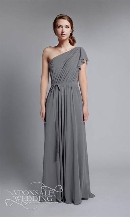 full length grey bridesmaid dresses