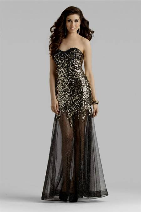 gold and black mermaid prom dresses
