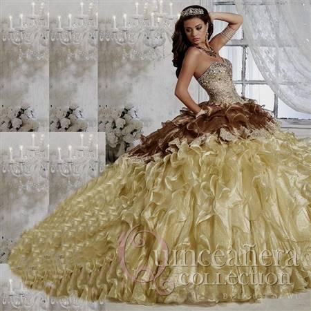 gold masquerade ball gowns