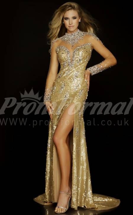 gold mermaid prom dresses