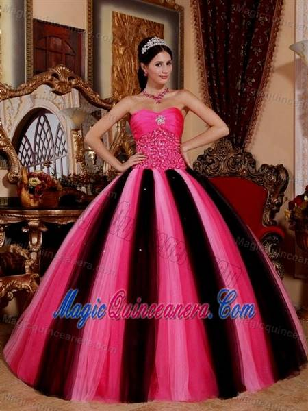 gowns for debutante pink and black