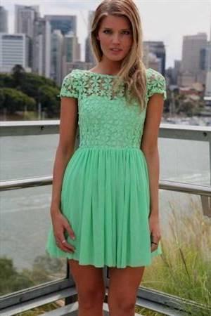 green casual dresses