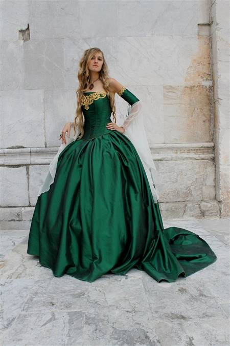 green medieval princess dress
