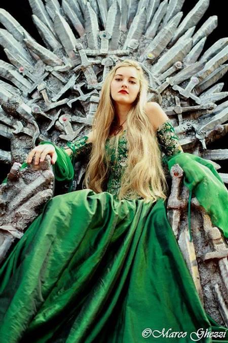 green medieval princess dresses