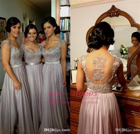 grey lace bridesmaid dresses