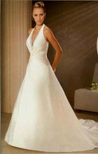 halter top wedding dress designs