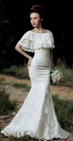 high fashion lace wedding dresses