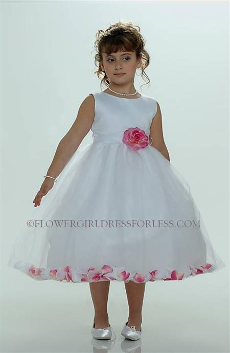 hot pink and white flower girl dresses