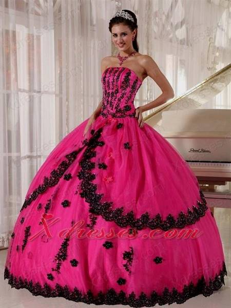 hot pink ball gown