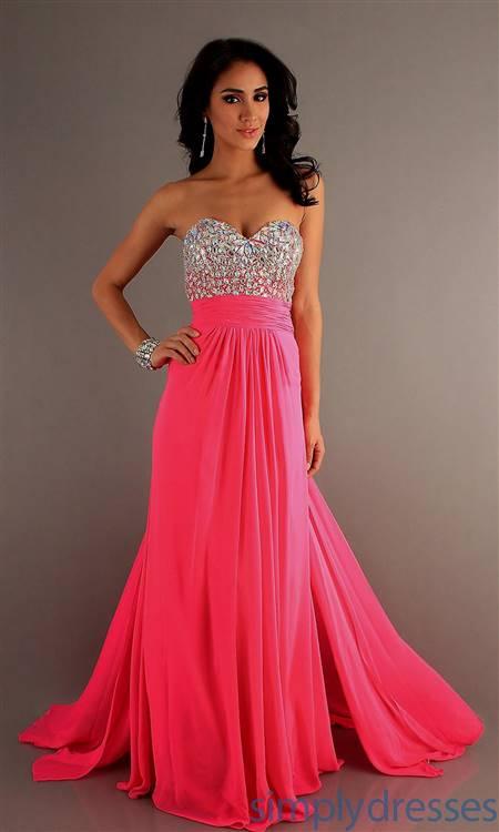 hot pink prom dresses