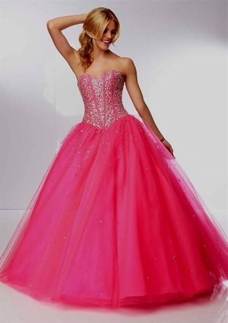 hot pink prom dresses cheap