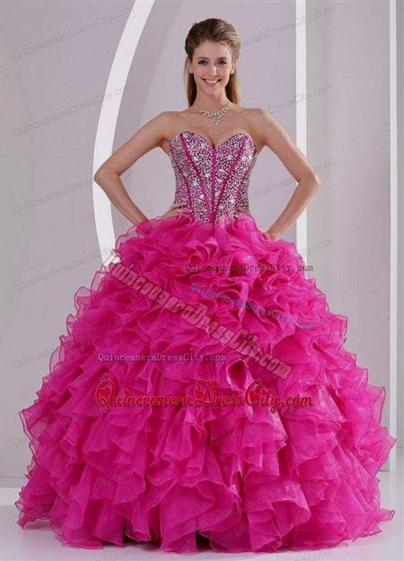 hot pink quinceanera dresses