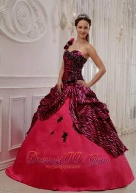 hot pink zebra wedding dresses