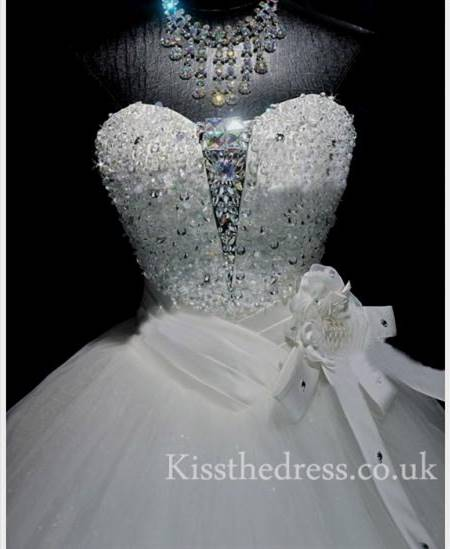 huge ball gown wedding dresses with crystals