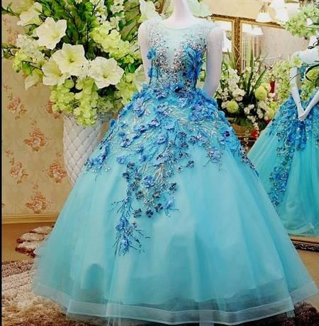 Ice Blue Ball Gown B2b Fashion