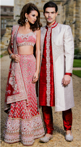 indian wedding dresses for men and women