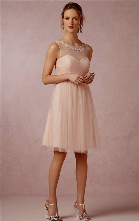 knee length bridesmaid dresses with sleeves