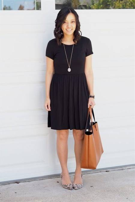 knee length casual dresses with sleeves