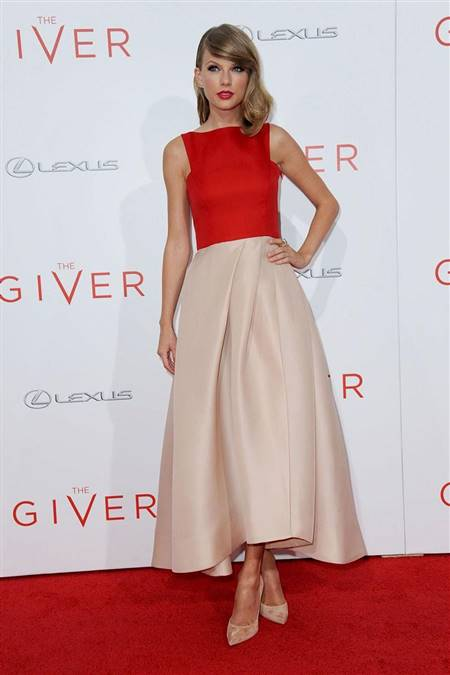 knee length dresses red carpet