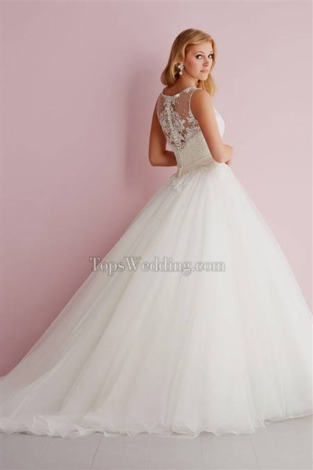 lace back ball gown wedding dress