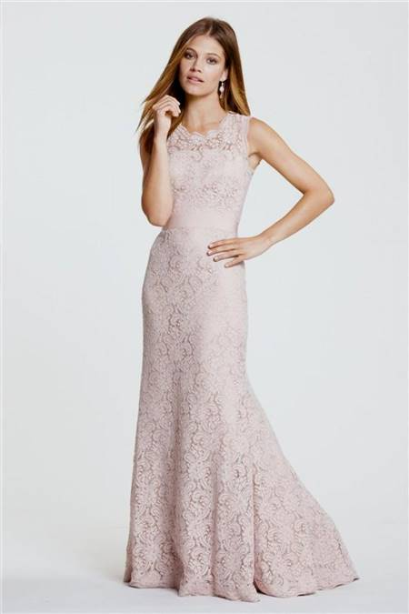 lace bridesmaid dresses pink