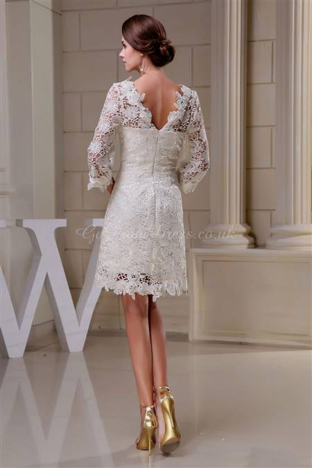 lace knee length dresses with sleeves