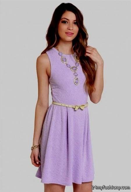 lavender casual dress