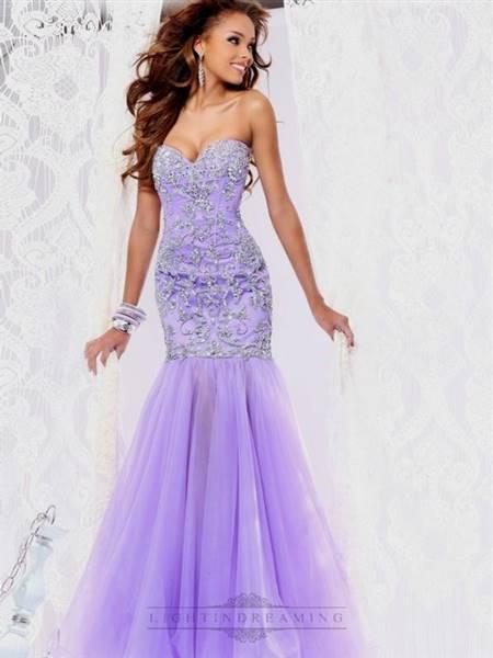 lavender lace prom dress