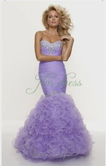 lavender prom dress mermaid