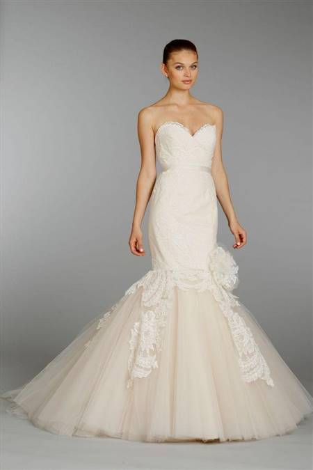 lazaro lace mermaid wedding dresses