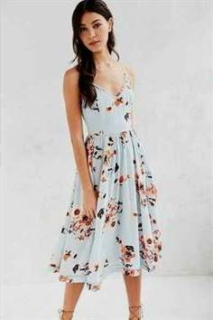 light blue floral sundress