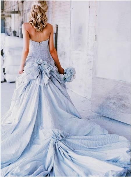light blue wedding dress designs