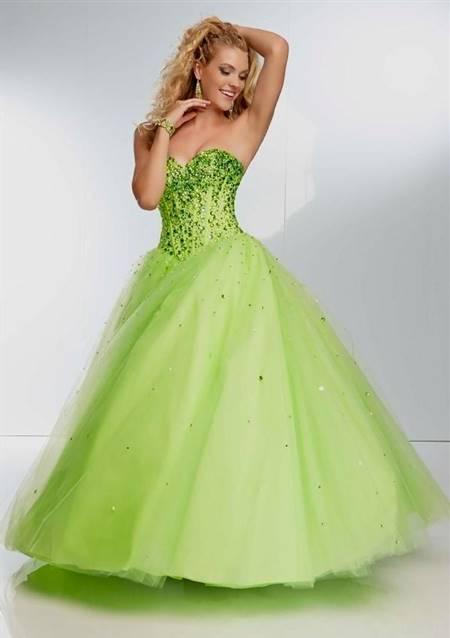 light green ball gown