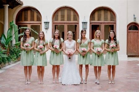 light mint green bridesmaid dresses