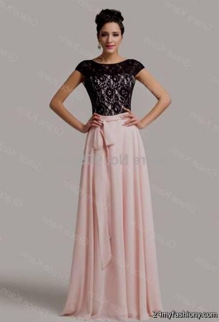 light pink and black dress