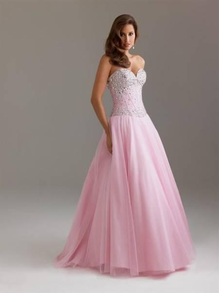 light pink ball gown