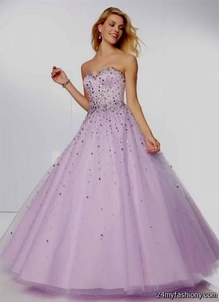 light purple ball gown