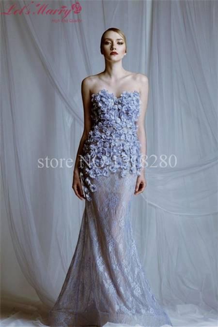 light purple mermaid prom dress