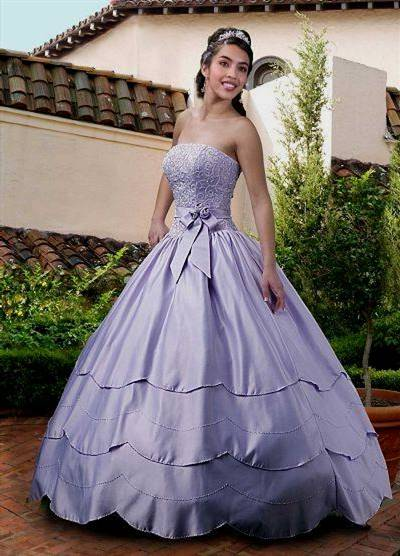 light purple princess wedding dresses