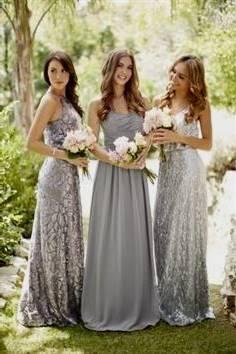 light silver bridesmaid dresses