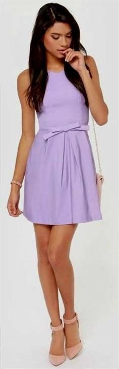 light violet casual dress