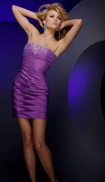 light violet cocktail dress