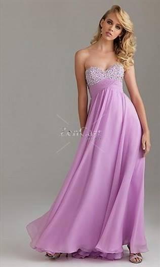 lilac chiffon prom dress