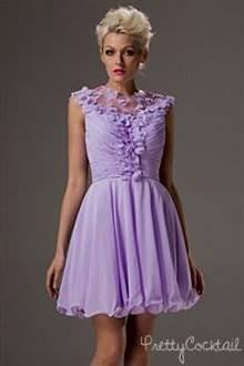 lilac cocktail dresses