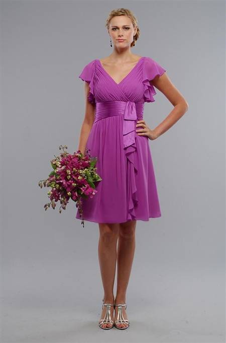 lilac dress with sleeves