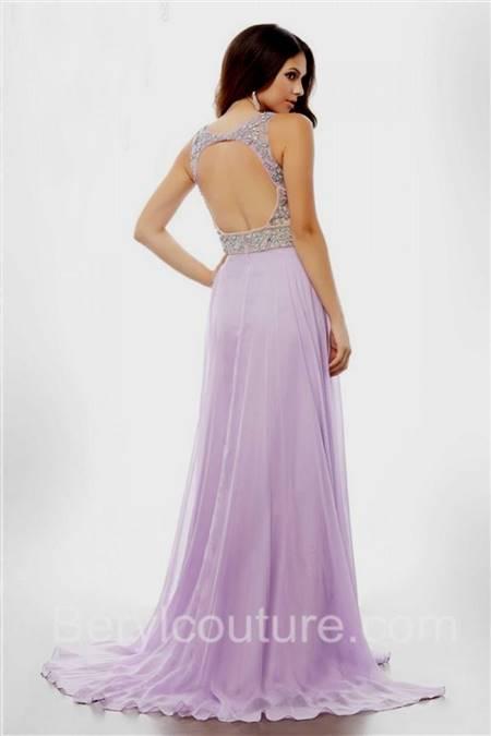 lilac prom dress