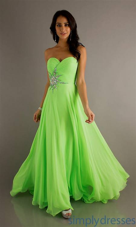 lime green and white wedding dresses