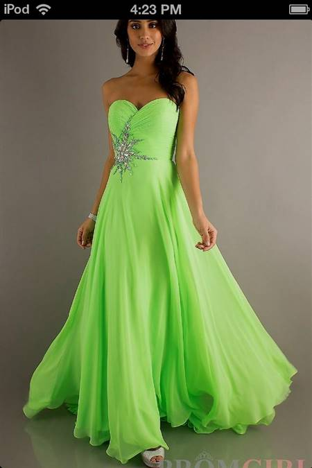 lime green prom dresses