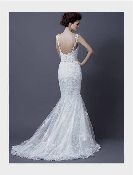 mermaid wedding dress with straps